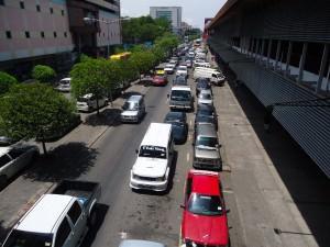 Traffic jam in Kota Kinabalu Malaysia