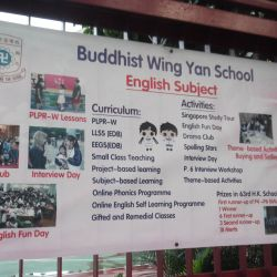 English interviews in a Buddhist School in Yuen Long