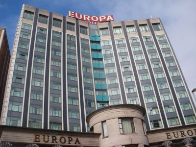The Crown Bar sits opposite the Europa Hotel (once dubbed the most bombed hotel in the world)