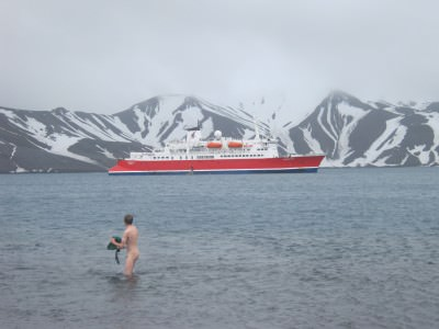 Antarctica Highlights - Getting naked in the waters at Whaler's Bay