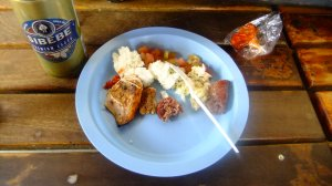 swazi lunch and a cold sibebe beer