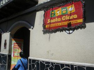 eating pique a lo macho in Potosi bolivia