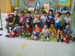 kindergarten kids at mid autumn festival
