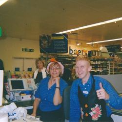 Jonny Blair a lifestyle of travel working in Tesco Branksome in 2004