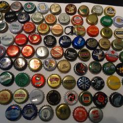collecting beer bottle tops