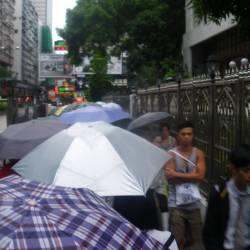 umbrellas in hong kong