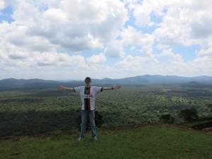 top of Sigiriya lion rock sri lanka