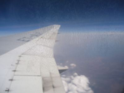 over africa flying