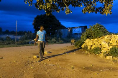 hyena man gets ready in Ethiopia