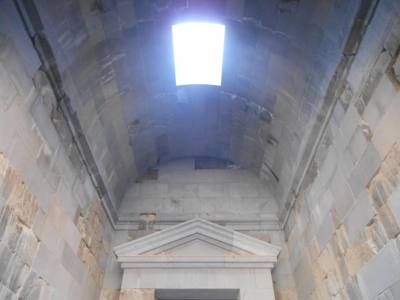 inside garni temple armenia