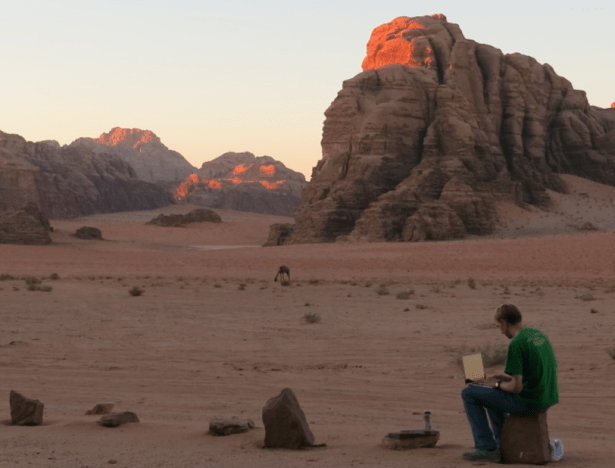 "Business Backpacker - Jonny Blairs travel blog - working in Wadi Rum Jordan. That's right ""working""."