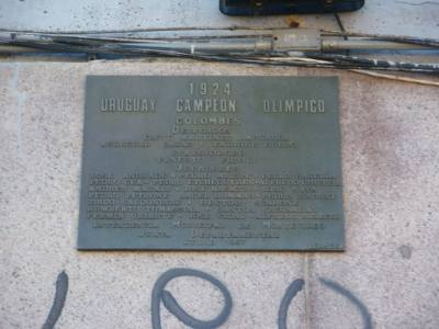 Plaque celebrating the 1924 Olympics win in Colombes.