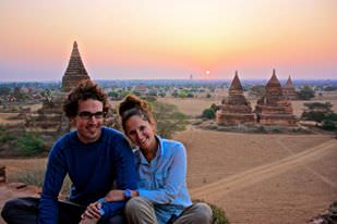World Travellers: Rob and Lina at Bagan, Myanmar.