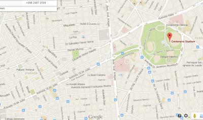 estadio centenario map uruguay