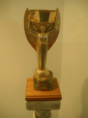 A replica of the 1930 World Cup. The real one melted.