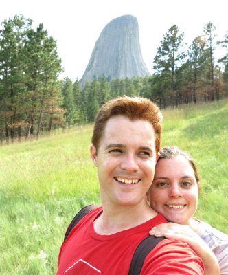 World Travellers: Double Barrelled Travel duo Carmen and Dave at Devil's Tower, South Dakota