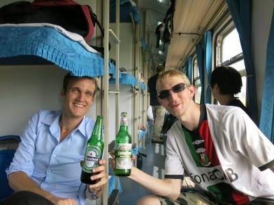 north korea china train
