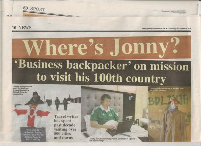 jonny blair 100 countries