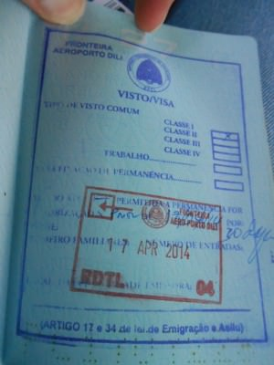 east timor visa on arrival.