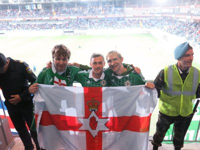 Back in the stand with the GAWA - Nial and Davy.