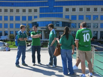 My trip to Azerbaijan to watch Norn Iron in October 2013.