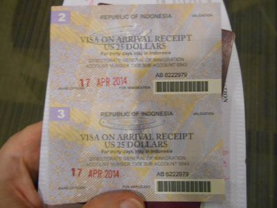 indonesian departure receipt