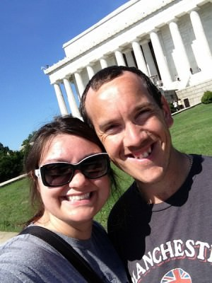 World Travellers: Chris and Heather at Washington DC