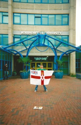From Belfast to Bournemouth with a Northern Ireland flag