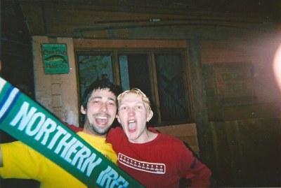 The night I DJ-ed with Colin Murray, BBC DJ from Belfast.
