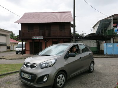 We hired a car to get around French Guyana.