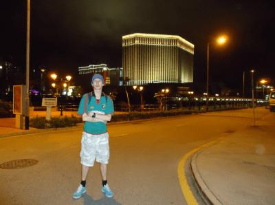 Nightfall in Macau.