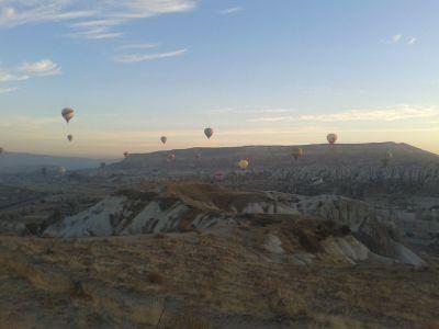 Sunrise in Goreme, Cappadocia.