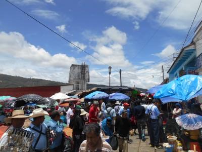 Crazy market in San Cristobal de las Casas, Mexico.