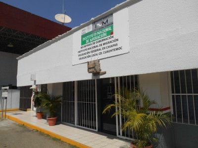The Immigration Building in Ciudad Cuauhtemoc where you get your exit stamp.