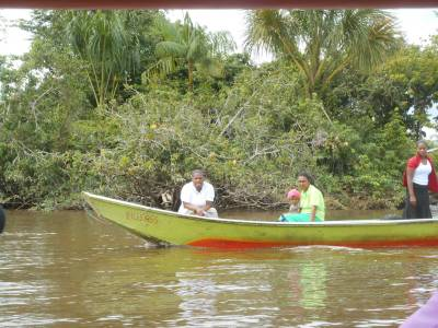 Sailing on the Essequibo near Parika.