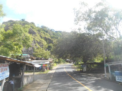 The main road leads up to the other walking options.