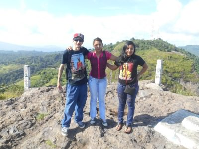 With some locals at the top.