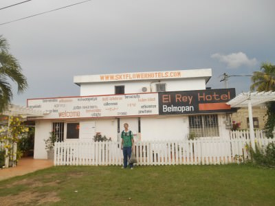 Backpacking in Belmopan - staying in El Rey Hotel in the capital city of Belize.