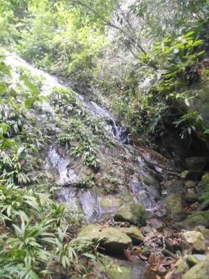 Waterfall on ziplining tour.