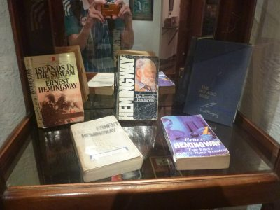 Books in the Hemingway Cabinet