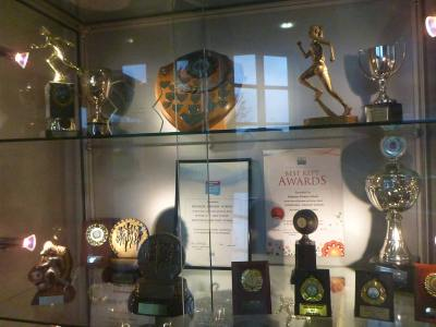 Kilmaine Primary School trophy cabinet.