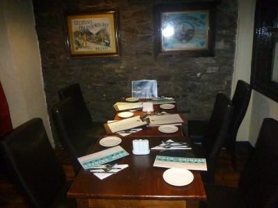 Table all set for dinner in Donegans.