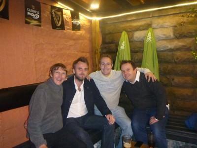 The lads. 30 Years on. Jonny Blair, Mark McCullough, Magoo, Graham Irwin.