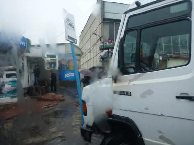 Bus leaving Chisinau for Tiraspol.