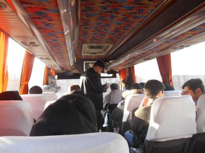 The bus from Tabriz to Orumiyeh.