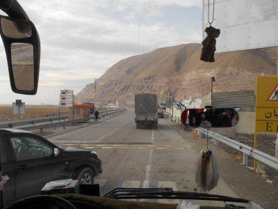 Crossing the Bridge to Orumiyeh.