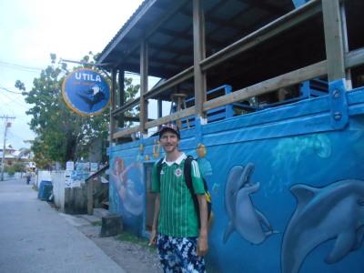 Getting my PADI Licence at Utila Dive Centre in Honduras.