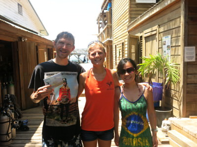 Panny and I with Millie our dive trainer after our week of diving.