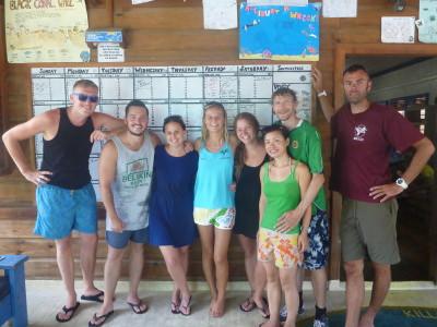 Our team at Utila Dive Center.