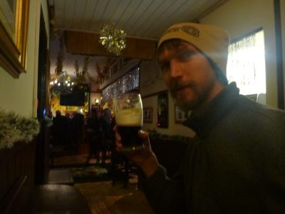 My 3 Euro Beer at the Bachelor Pub.